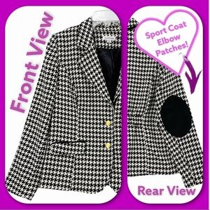 Hounds tooth Sport Coat- Elbow Patches